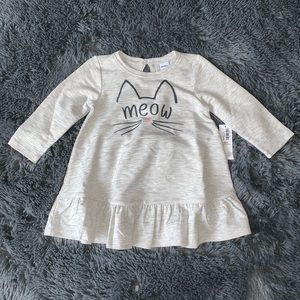 18ee395590396 Old Navy | Baby Girl Kitten peplum dress NWT